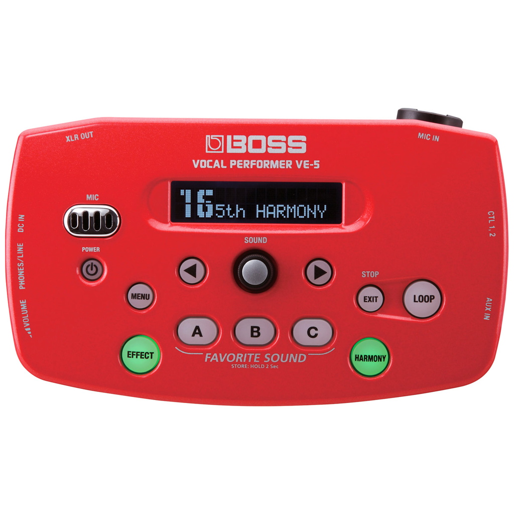 Boss VE-5-RD Vocal Performer - Red - Bananas at Large - 1