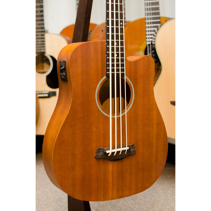 Gold Tone M-Bass 25 In. Scale Acoustic Electric MicroBass with Gig Bag - Natural - Bananas At Large®
