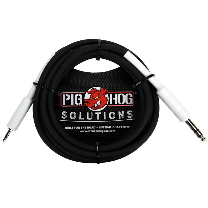 Pig Hog PX48J3 Solutions 1/4 in. TRS - 1/8 in. mini, 3ft - Bananas at Large