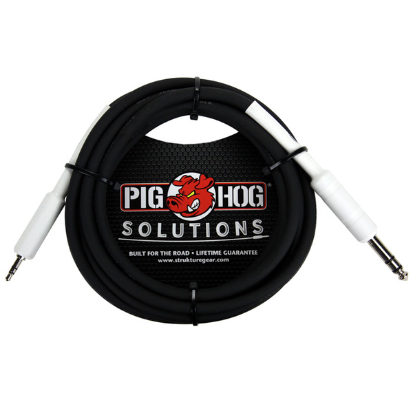 Pig Hog PX48J6 Solutions 1/4 TRS to 1/8 mini 6ft Cable - Bananas at Large