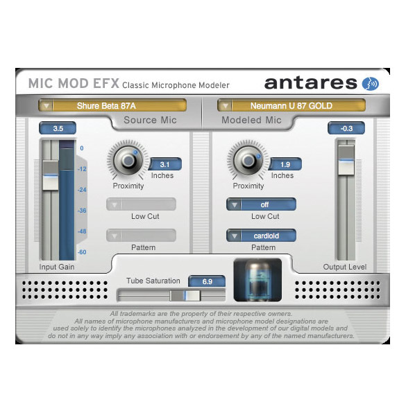 Antares 631782 Mic-Mod EFX Microphone Modeling Software [Download] - Bananas at Large