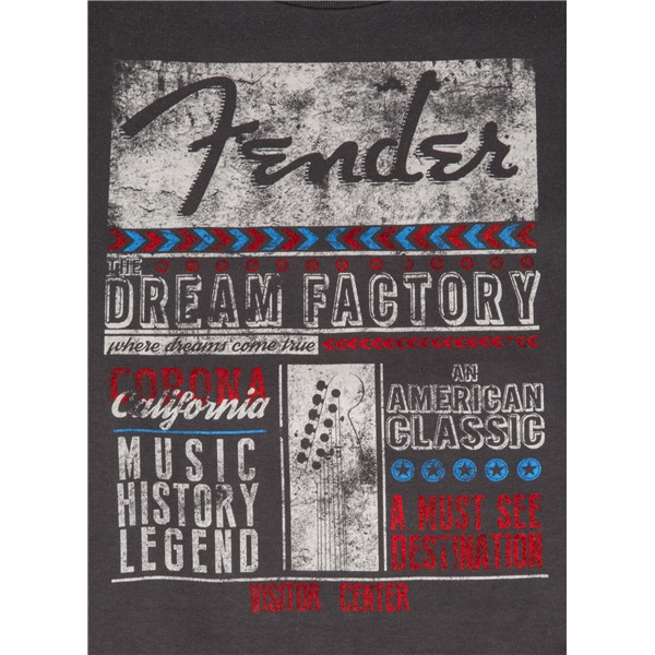 Fender Dream Factory T-Shirt, Gray, XXL - Bananas At Large®