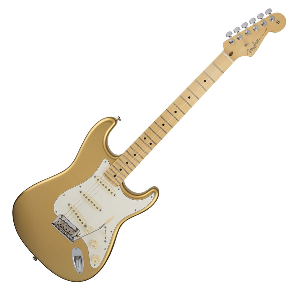 Fender Limited Edition American Standard Stratocaster with Maple Fingerboard - Mystic Aztec Gold - Bananas At Large®