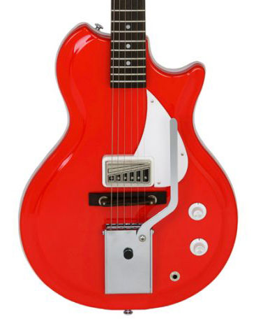 Supro Belmont Vibarato Americana Series Semi-Hollow Body Electric Guitar - Poppy Red - Bananas at Large - 1