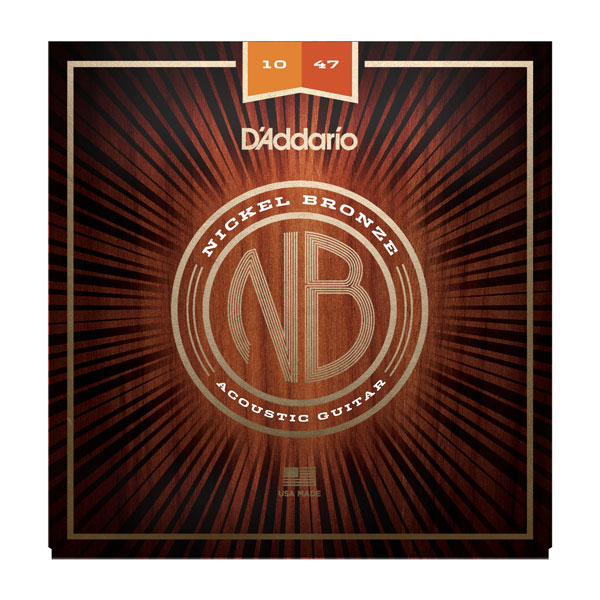 D'Addario NB1047 Nickel Bronze Extra Light Acoustic Guitar Strings 10-47 - Bananas At Large®
