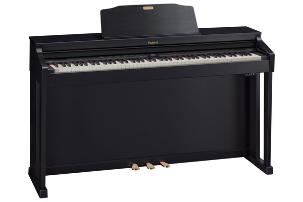 Roland HP-504 SuperNATURAL Digital Piano with Stand and Bench - Contempory Black