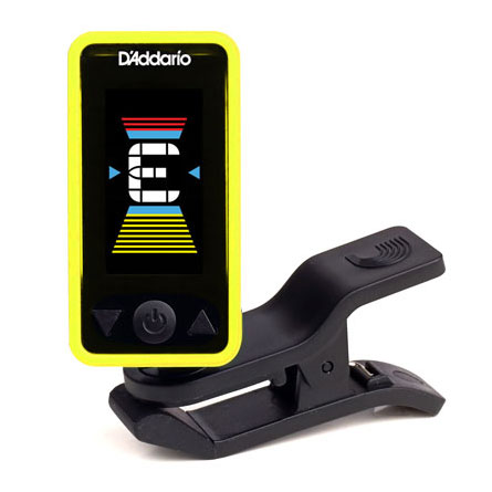 Planet Waves PW-CT-17YL Eclipse Chromatic Clip-on Tuner - Yellow - Bananas at Large
