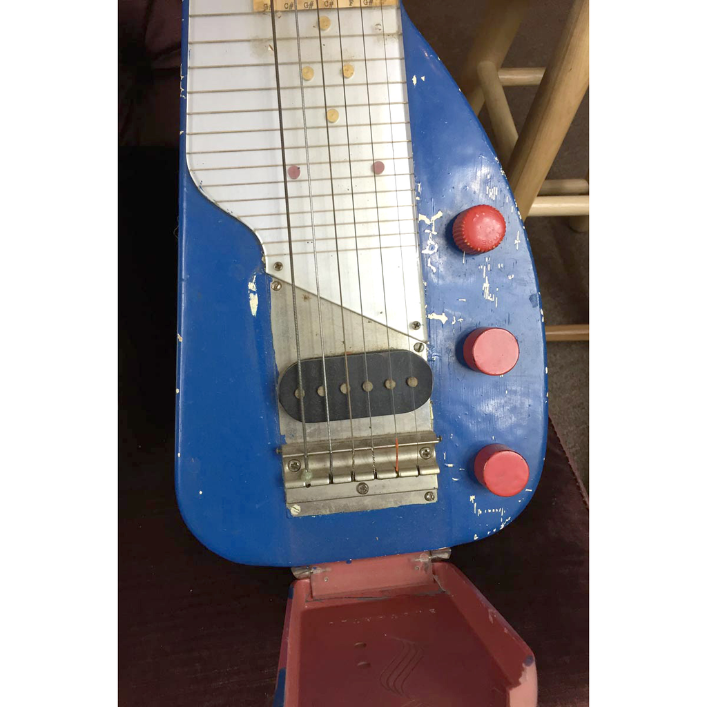 Gibson Ultratone 1940s Six String Lap Steel, Blue with Brown Case (Jeffrey Cohen) (Pre-Owned) - Bananas At Large®
