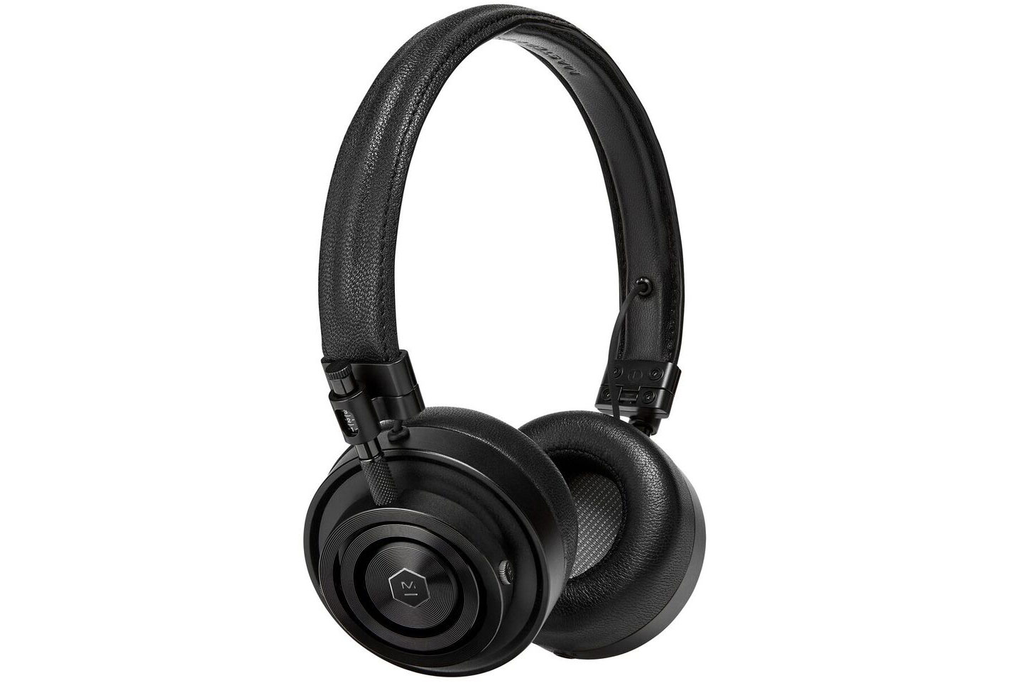 Master & Dynamic MH30 Foldable on Ear Headphones - Black Metal and Black Leather