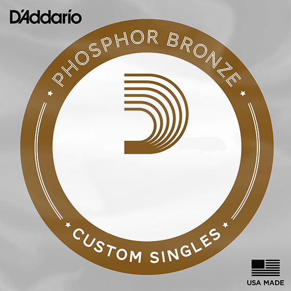 D'Addario PB025 Single Phosphor Bronze Wound Acoustic Guitar String
