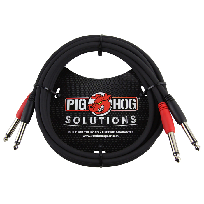 Pig Hog PD-21406 Solutions 6ft 1/4-1/4 Dual Cable - Bananas at Large