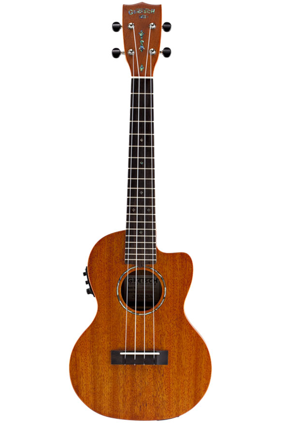 Gretsch G9121 Acoustic Cutaway Electric Tenor Ukulele with Gig Bag - Honey Mahogany Stain - Bananas at Large - 1