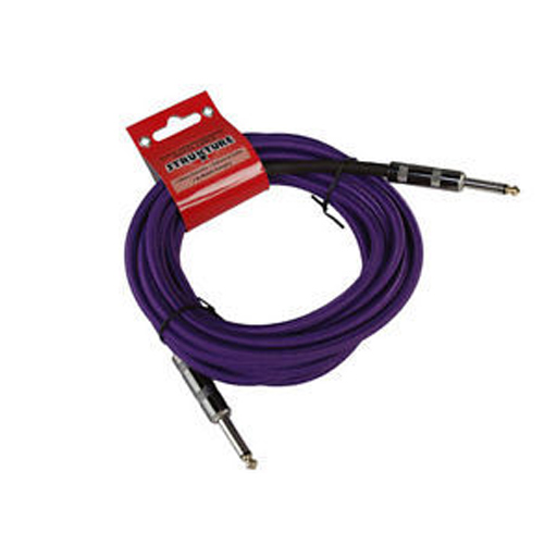 Strukture SC186W 18.6ft Instrument Cable, Woven Purple - Bananas at Large