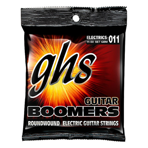 GHS GBM Boomers 6-String Medium Electric Guitar Strings - Bananas At Large®