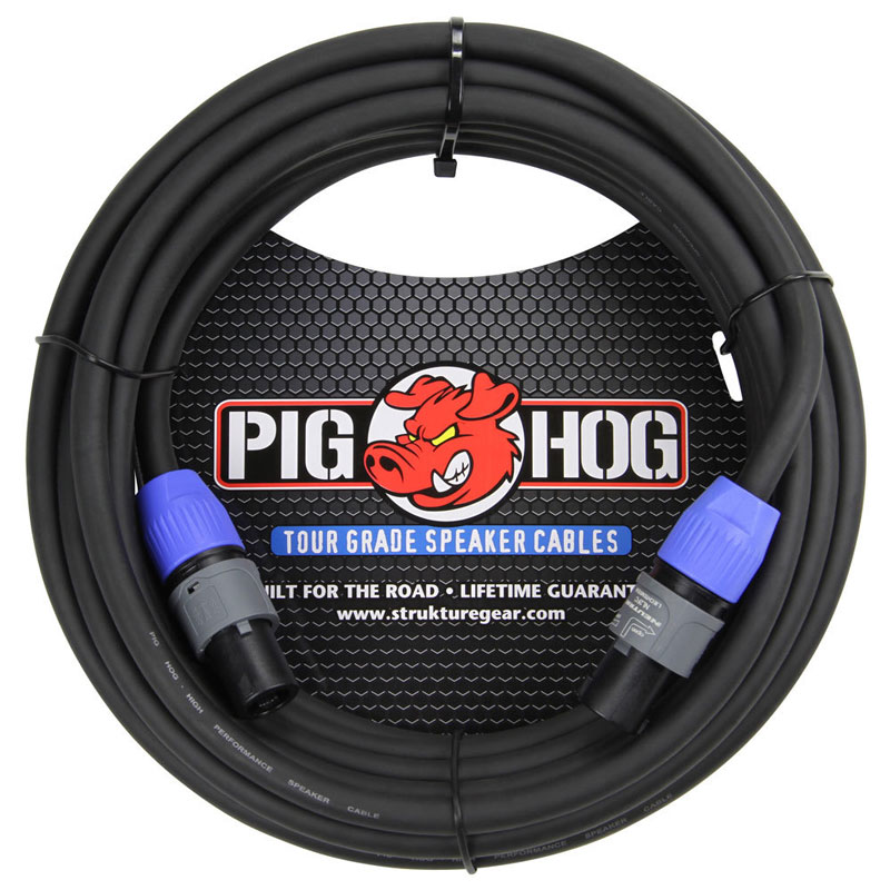 Pig Hog PHSC25SPK  25ft Speaker Cable, SPKON to SPKON - Bananas at Large