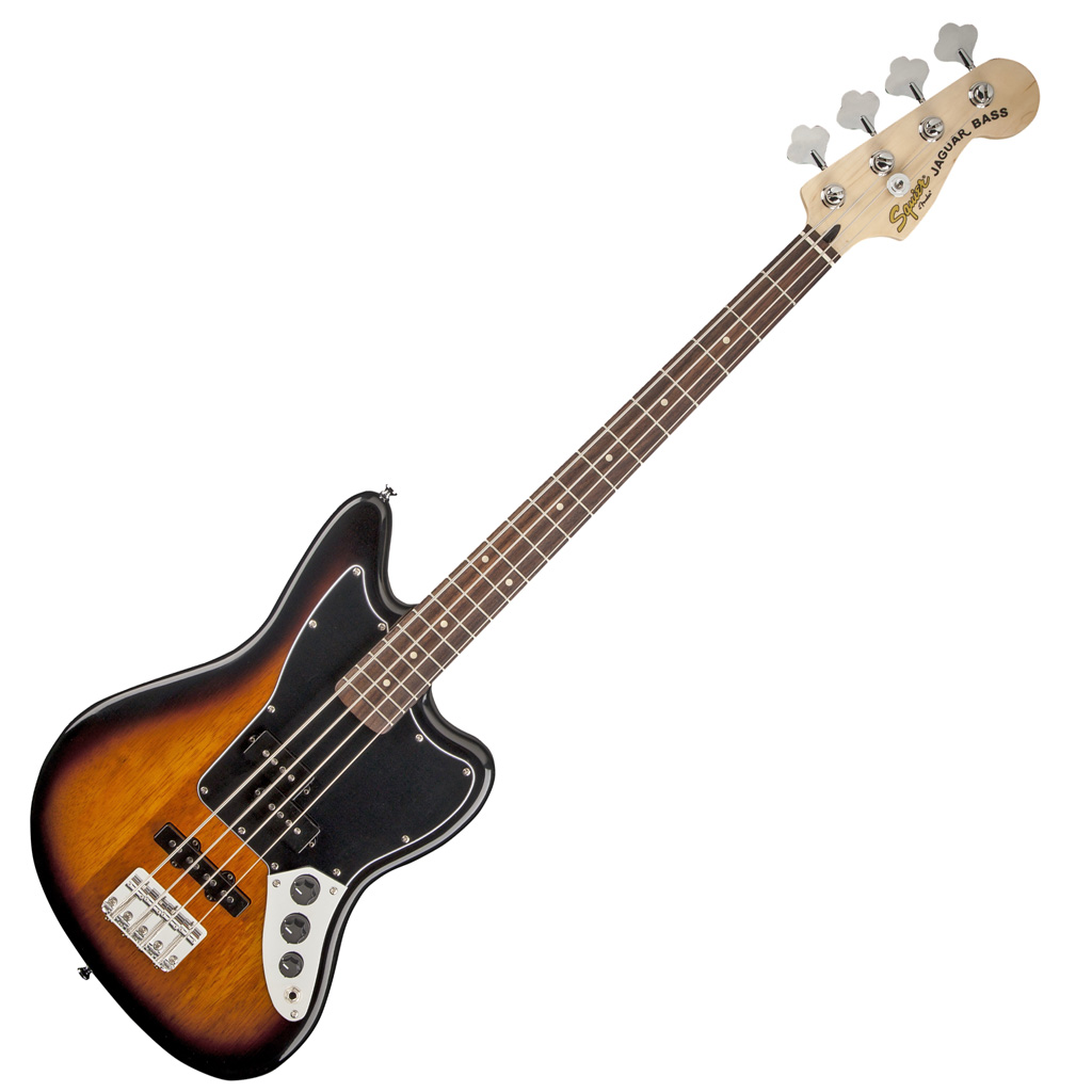Squier Stop Dreaming Start Playing! Set: Jaguar Bass Special SS with Fender Rumble 15 Amp - Bananas at Large - 3