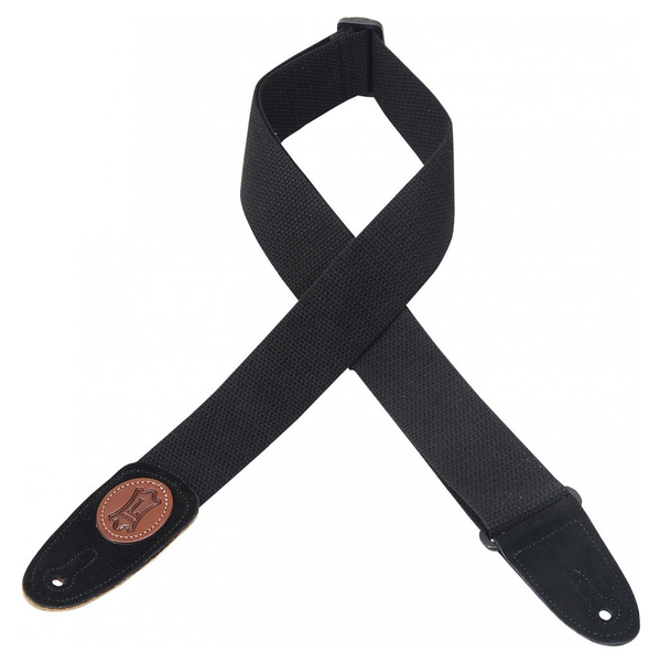 Levy's 2 in. wide black cotton guitar strap. - Bananas at Large