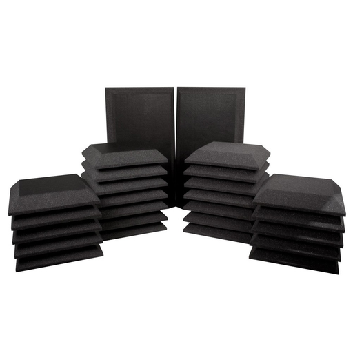 Ultimate Support Studio Bundle III Bevel/Bevel with Vinyl Wall Panels and Bass Traps with Vinyl Studio Foam