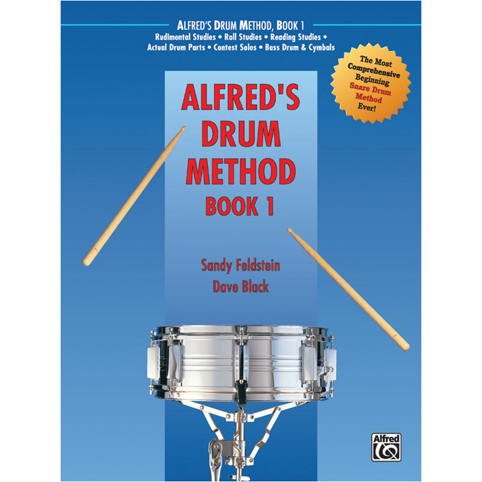 Alfred Drum Method Book 1 - Book & DVD (Hard Case) - Bananas At Large®
