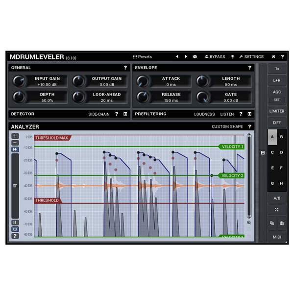 MELDA 11-30216 MDrumLeveler Improves Drum Performances [Download] - Bananas at Large