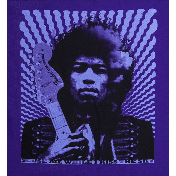 Fender Jimi Hendrix, Kiss the Sky T-Shirt, Purple, L - Bananas At Large®