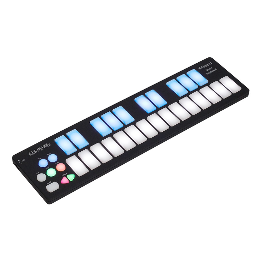 Keith McMillen K-716 K-Board 25-Key Portable USB Midi Controller - Bananas At Large®