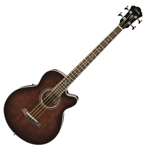 Ibanez AEB10E Acoustic-Electric Bass Dark Violin Sunburst - Bananas At Large®