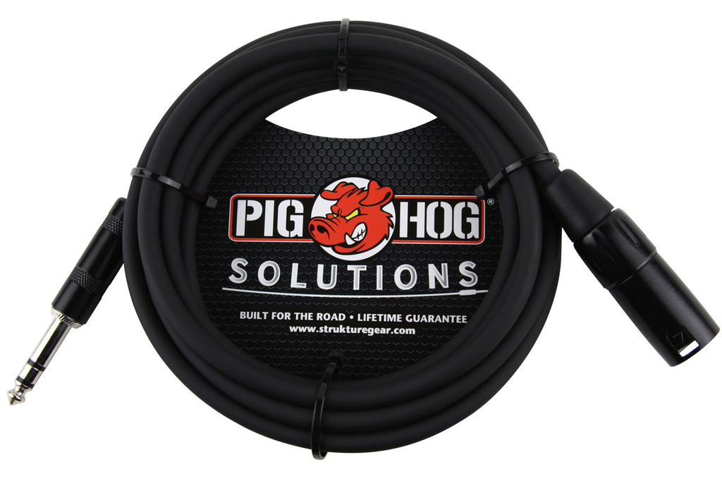 Pig Hog Solutions PX-TMXM25 25ft TRS(M)-XLR(M) Balanced Cable