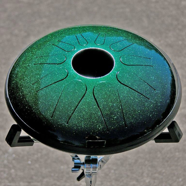 Idiopan Dominus 14 Inch Tunable Steel Tongue Drum - Cosmic Green - Bananas at Large - 1