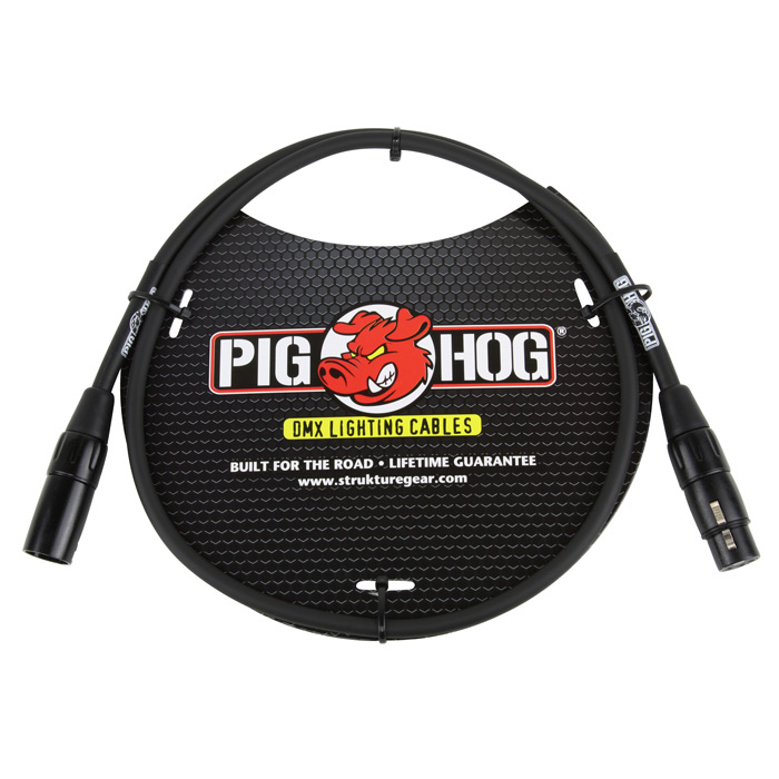 Pig Hog PHDMX3 3ft DMX Lighting Cable - Bananas at Large