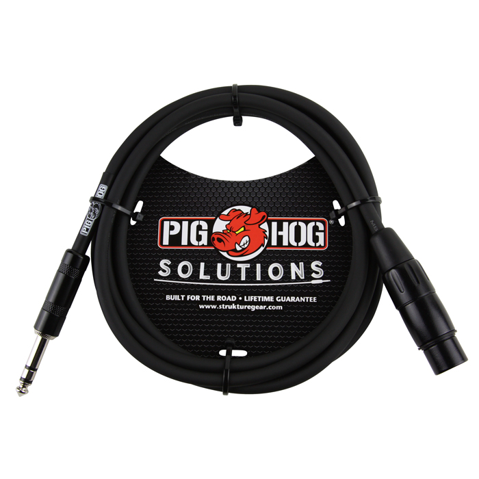 Pig Hog PX-TMXF6 6ft TRS(M) - XLR(F) Balanced Cable - Bananas at Large