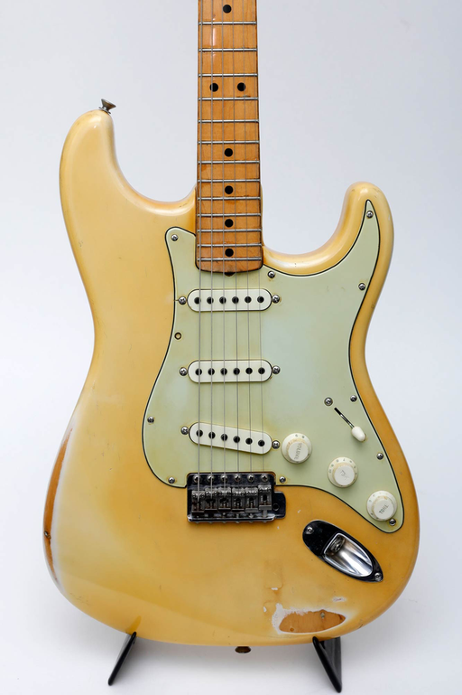 Fender 1969 Stratocaster Olympic White Maple Cap (Joe Satriani Private Collection) (Pre-Owned)