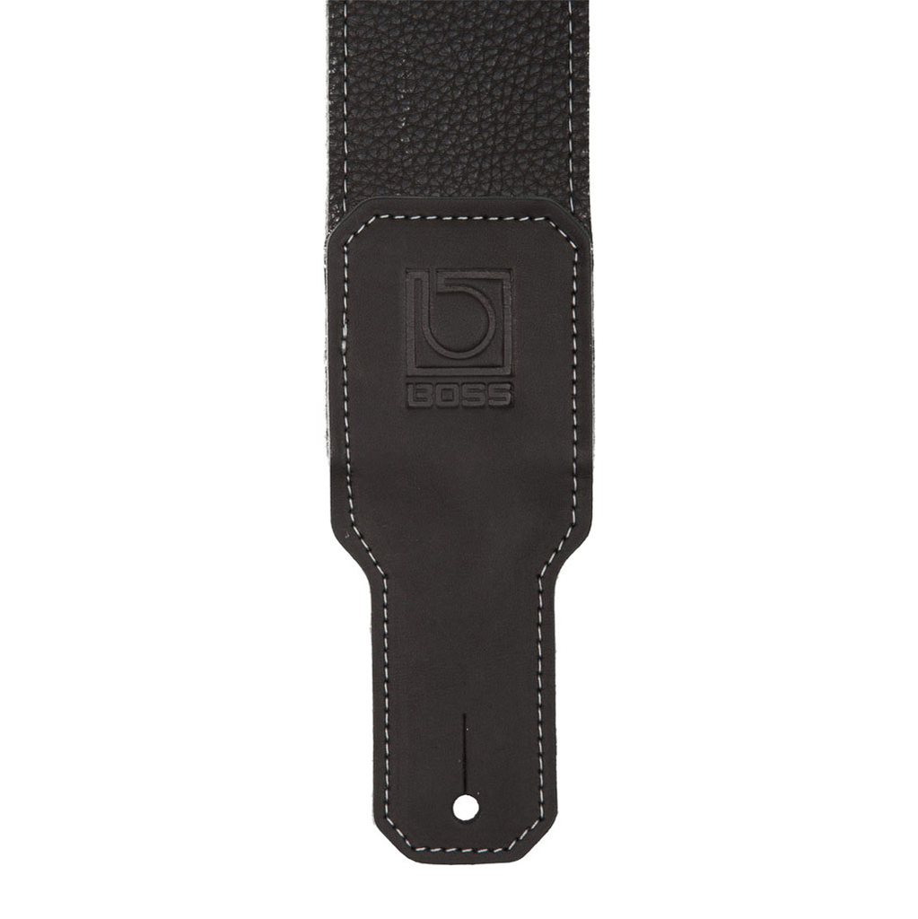Boss BSL-30-BLK 3 in. Premium Leather Instrument Strap - Bananas at Large - 2