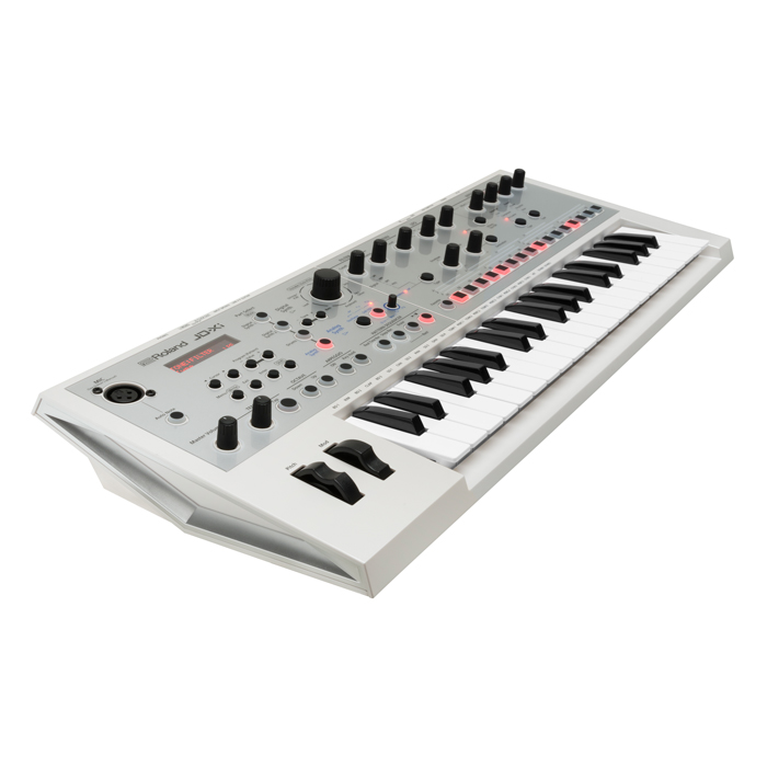 Roland JD-XI Interactive Analog-Digital Crossover Synthesizer - 34 Mini Keys - Limited Edition White - Bananas at Large - 3