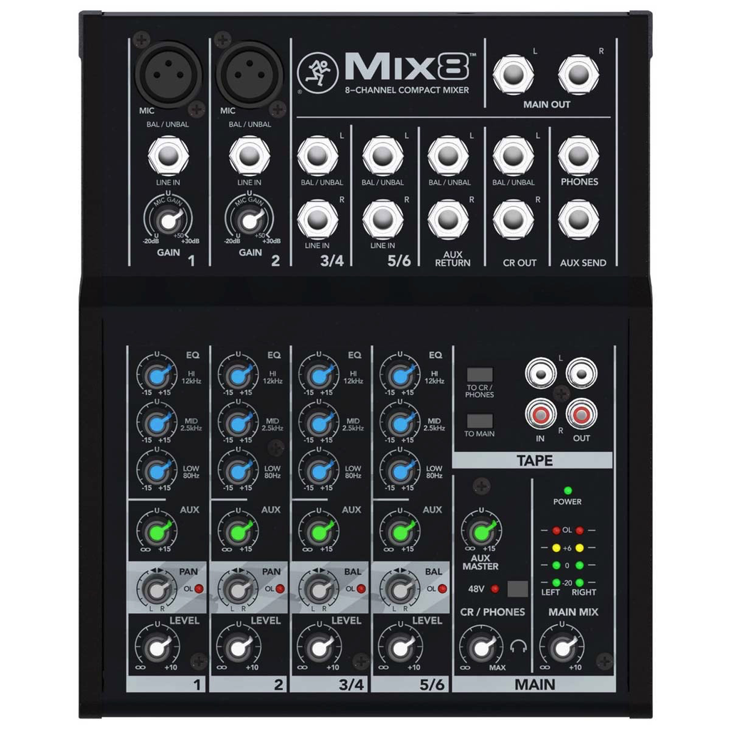 Mackie Mix8 Mix 8-channel Compact Mixer - Bananas at Large - 1
