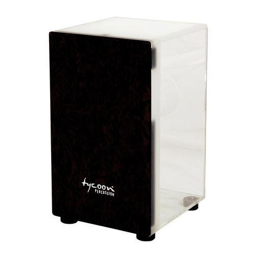 Tycoon Percussion Acrylic Cajon Makah Burl Front Plate - Clear - Bananas at Large