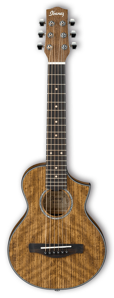 Ibanez EWP14OPN Exotic Wood Piccolo Acoustic Guitar - Open Pore Natural - Bananas at Large