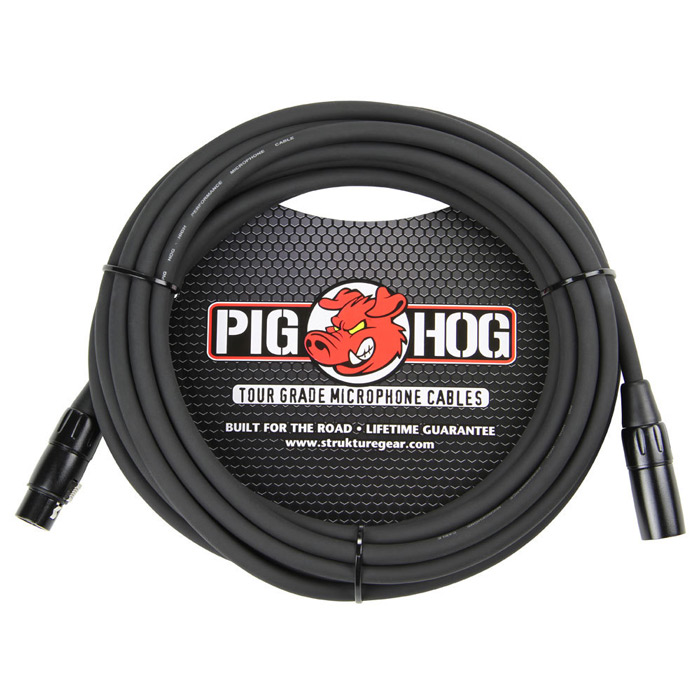 Pig Hog PHM25 8mm Mic Cable, 25ft XLR - Bananas at Large