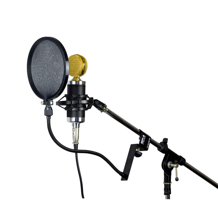 Nady MPF-6 / SPF-1 Microphone Pop Filter With Boom And Stand Clamp