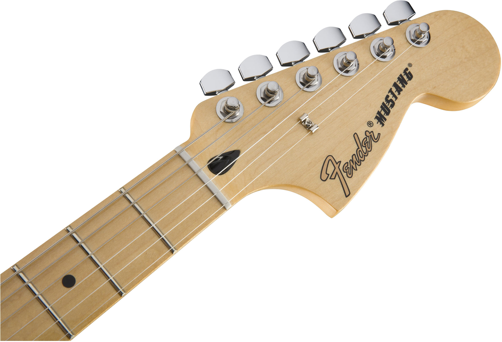 Fender Mustang with Maple Fingerboard - Olympic White - Bananas At Large®