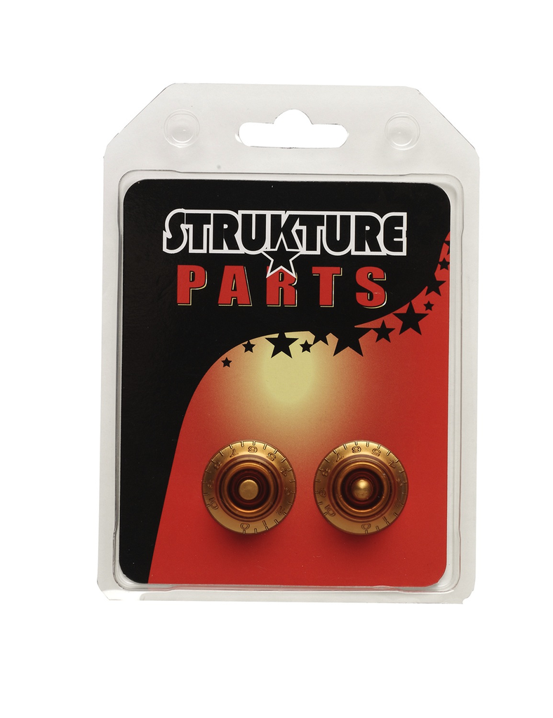 Strukture SSKN001AM Vintage Style Bell Knobs - Amber - Bananas at Large