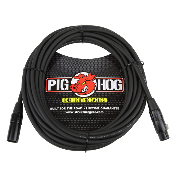 Pig Hog PHDMX25 25ft DMX Lighting Cable - Bananas at Large