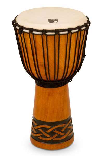 Toca TODJ-10CK Origins Series Rope Tuned Wood 10 in. Djembe - Celtic Knot Finish - Bananas at Large