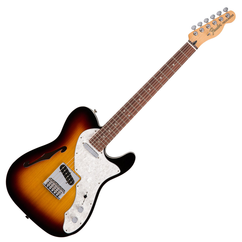 Fender Deluxe Tele Thinline With Rosewood Fingerboard - 3 Color Sunburst - Bananas At Large®