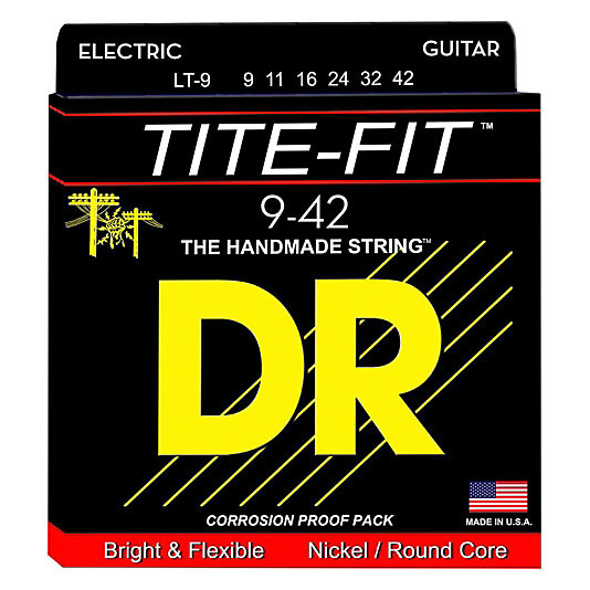 DR Strings LT-9 Light Tite-Fit Electric Strings 9-42 - Bananas At Large®
