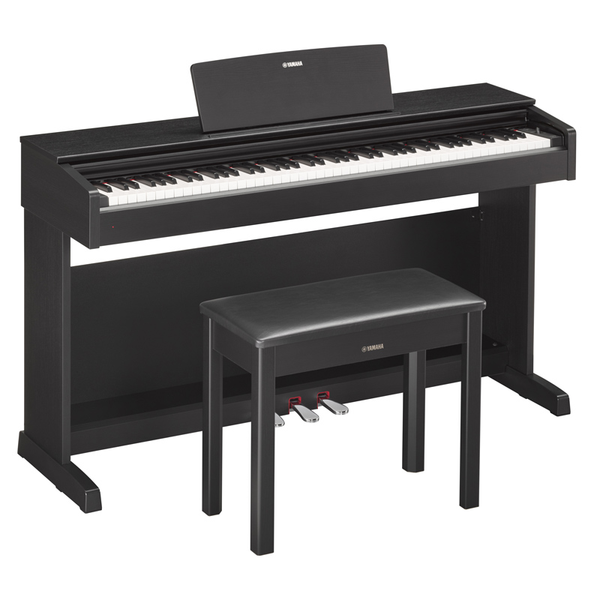Yamaha ARIUS YDP-143 Digital Home Piano Contemporary Black with Bench - Bananas at Large - 1