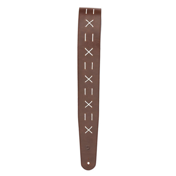 D'Addario Decorative Stitch Leather Guitar Strap