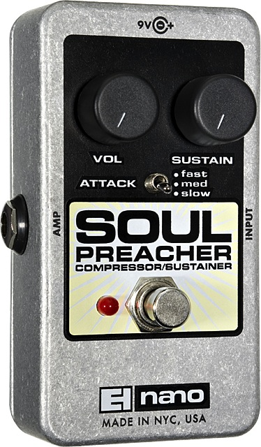 Electro-Harmonix SOUL PREACHER Compressor/Sustainer - Bananas At Large®