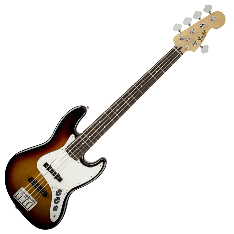 Fender Standard Jazz Bass V Rosewood Fretboard, Brown Sunburst - Bananas At Large®