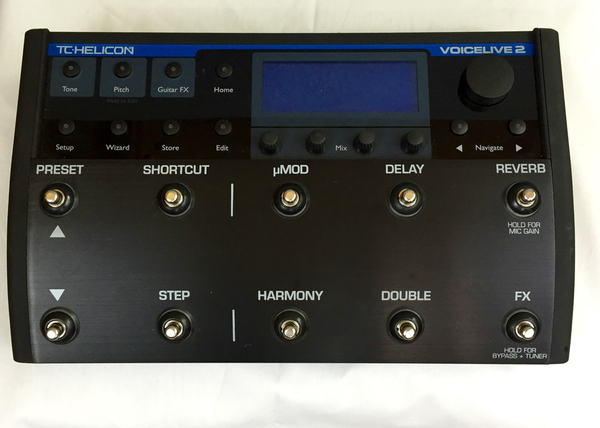 TC-Helicon VoiceLIve 2 Footswitch-Controlled Mic Preamp with Harmony, Pitch Correction, Effects, and 250-plus Presets (Neal Schon Private Collection) (Pre-Owned) - Bananas at Large